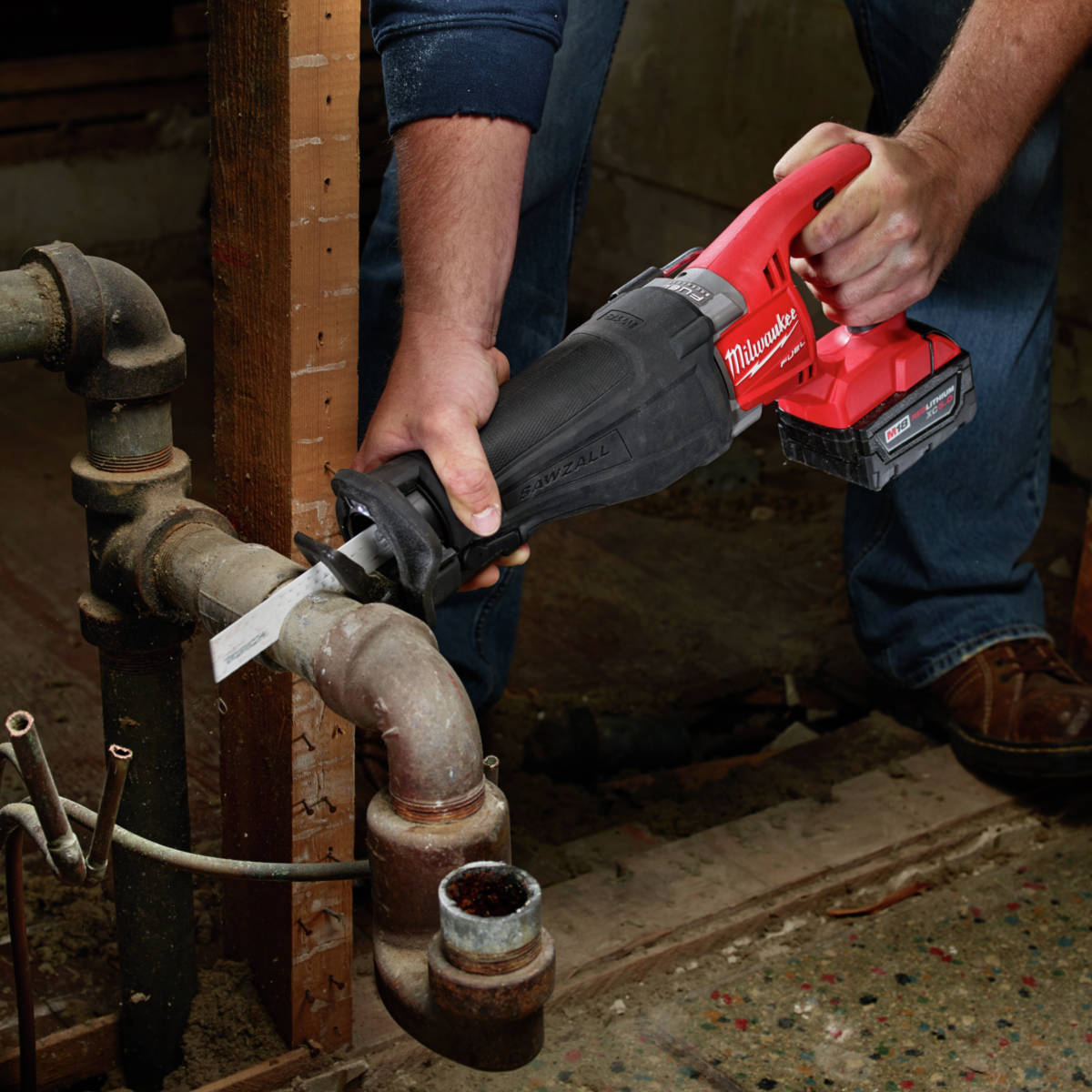 M18 FUEL Lithium-Ion Sawzall Reciprocating Saw cuts faster than corded counterparts