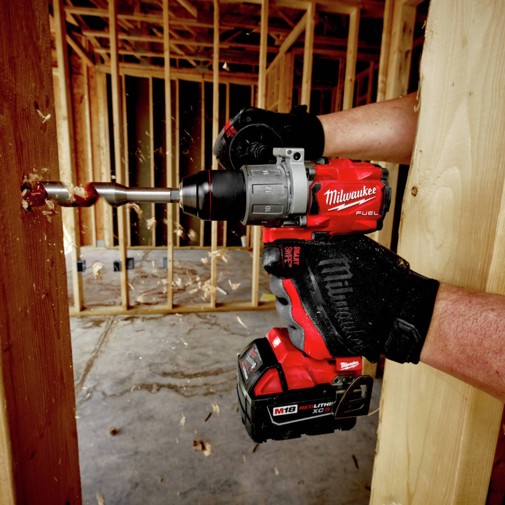 M18 FUEL 1/2 in. Hammer Drill is up to 2X faster under heavy load