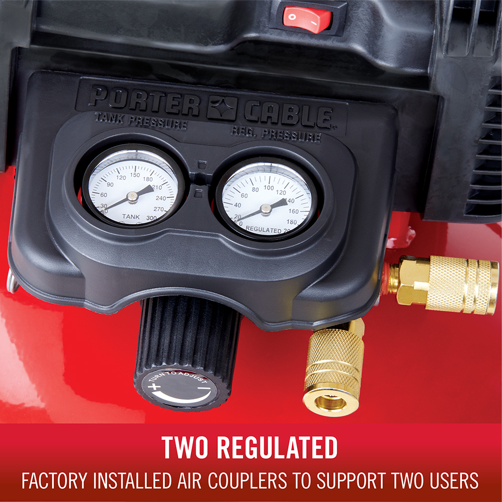 Two regulated factory installed couplers to support two users
