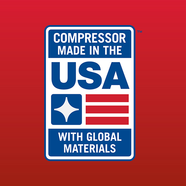 Compressor made in the USA with global components