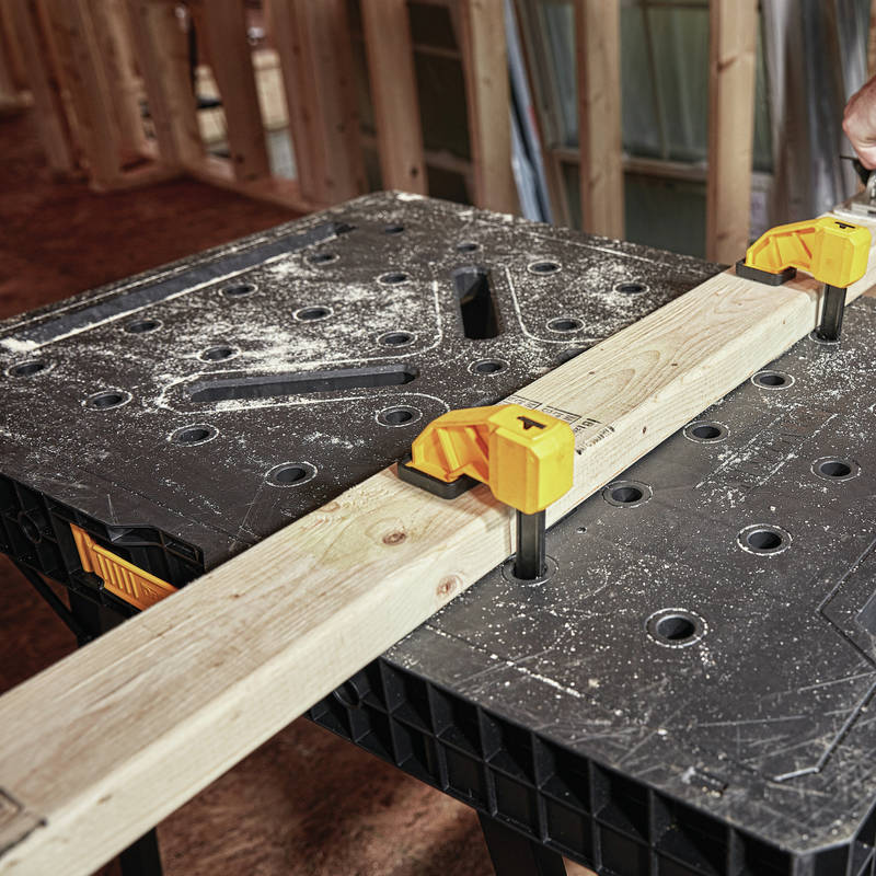 Large work surface for a wide range of applications