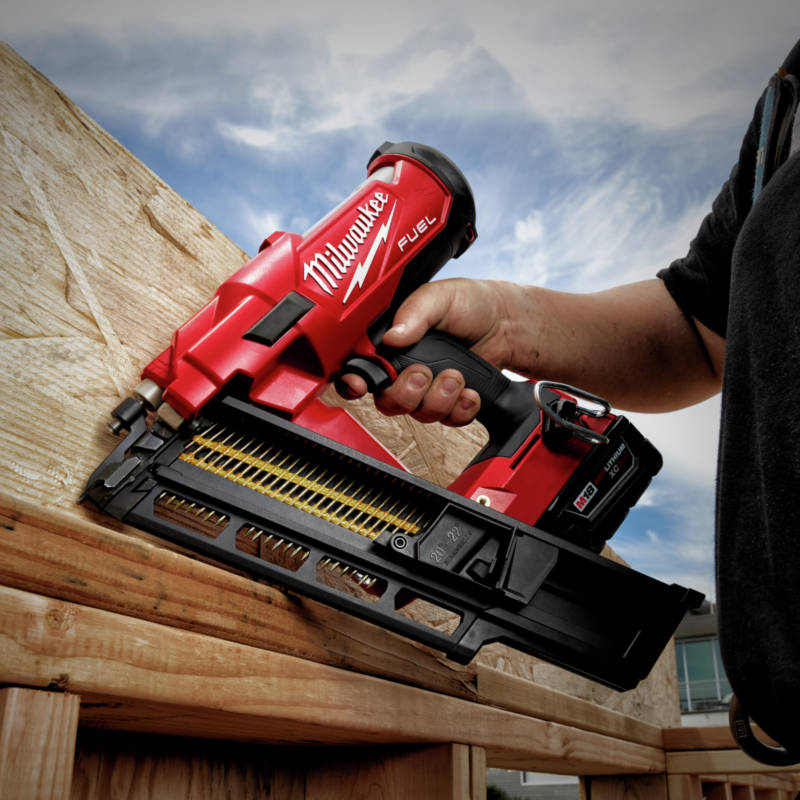M18 FUEL Cordless Framing Nailer nails into dense engineered lumbers