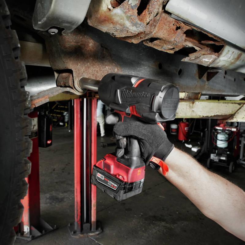 M18 FUEL 1/2 in. High Torque Impact Wrench removes fasteners up to 2X faster than the competition