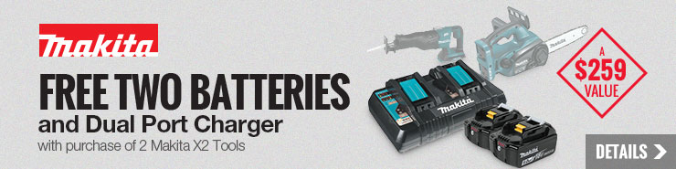 FREE Makita Battery and Dual Port Charger Starter Pack