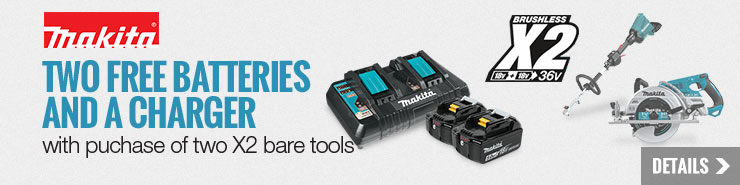FREE Makita Battery and Charger Starter Pack