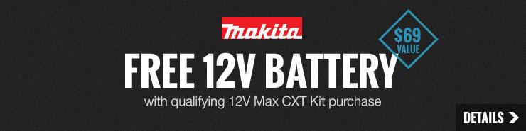 FREE Makita 12V Max Li-Ion Battery