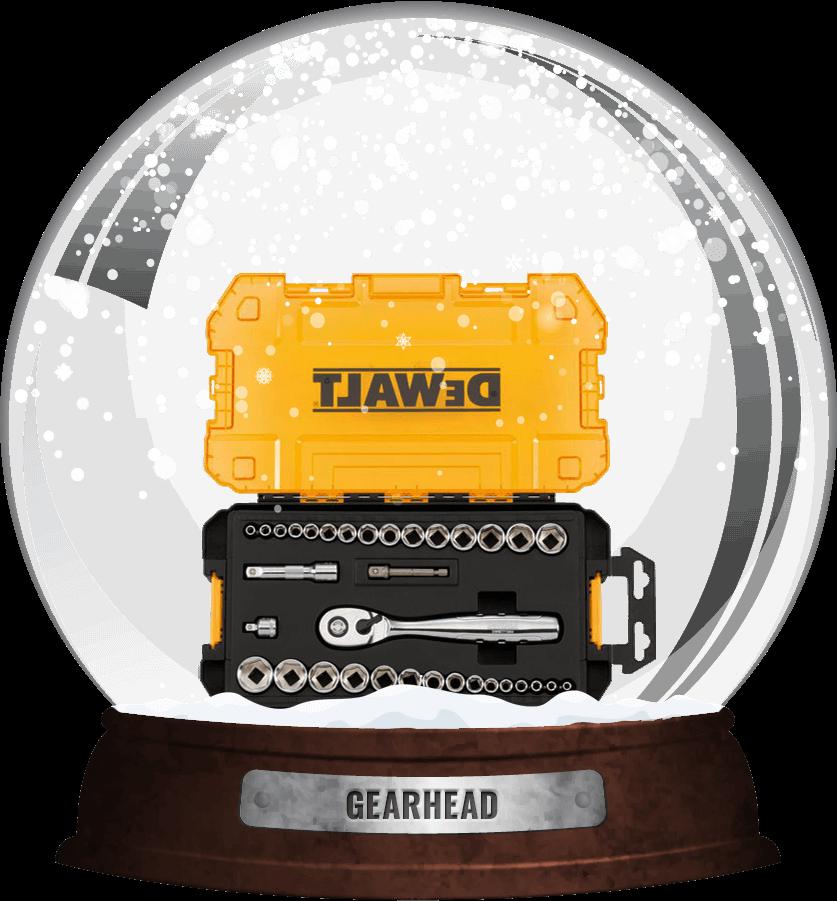 gearhead snow globe