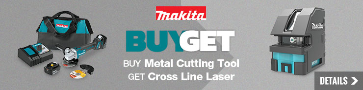 Free Cross Line Laser with Makita Metal Cutting Purchase