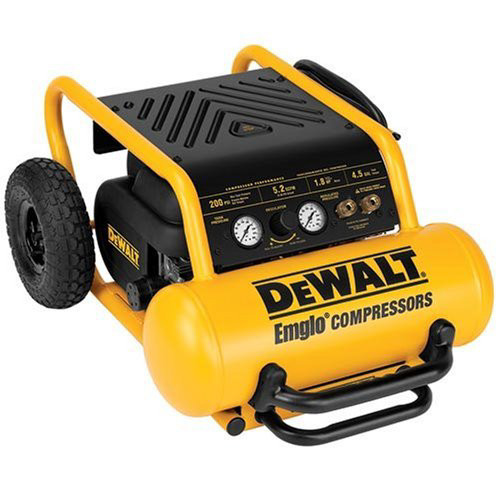 DeWalt Factory-Reconditioned D55146R 1.6 HP 4.5 Gallon Oil-Free Wheeled Portable Air Compressor