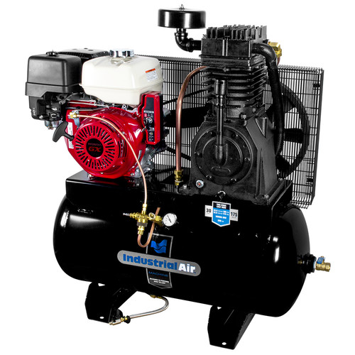 Industrial Air IH1393075 13 HP 30 Gallon Oil-Lube Truck Mount Air Compressor with Honda Engine